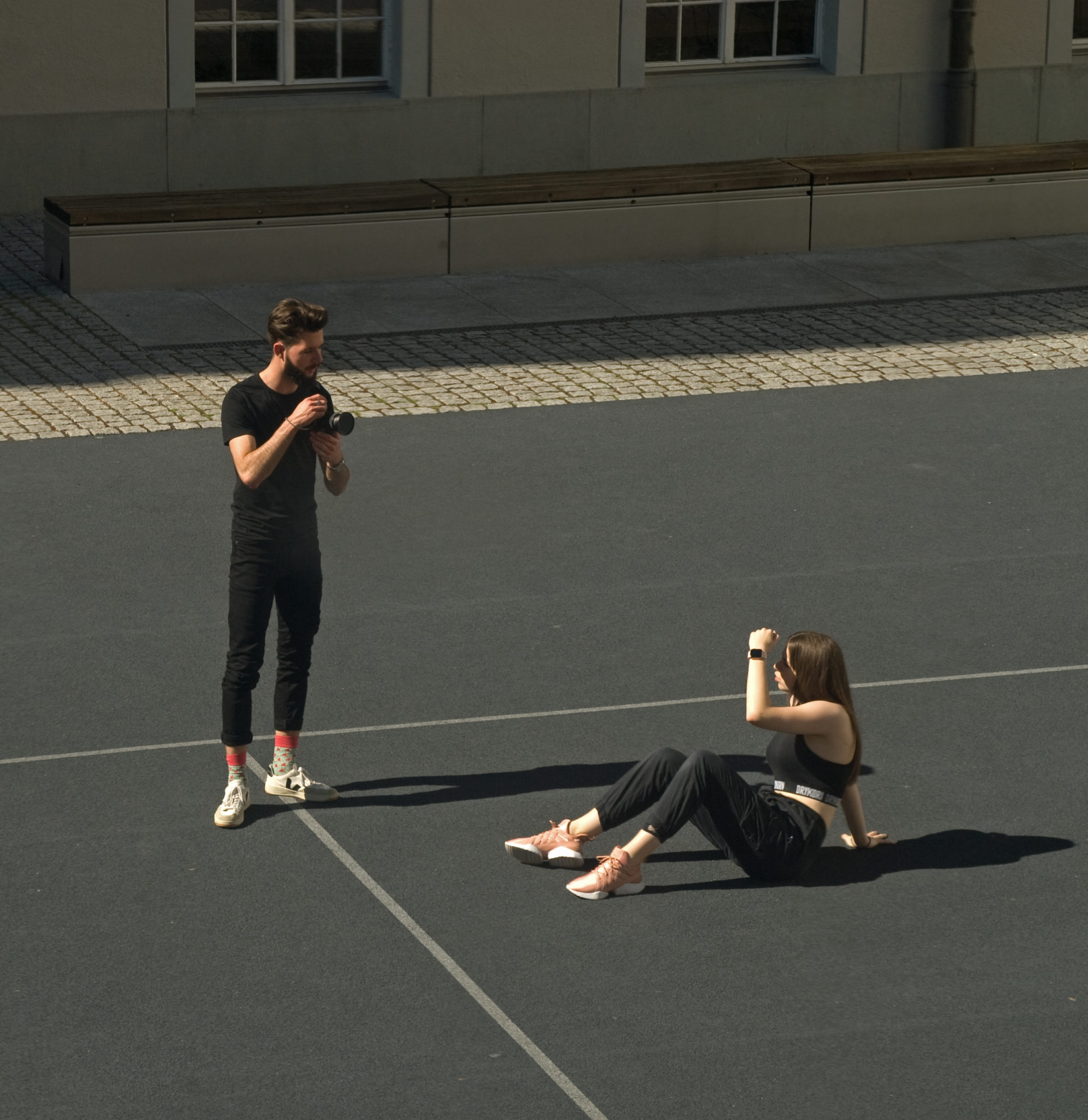 A fotograph and a model