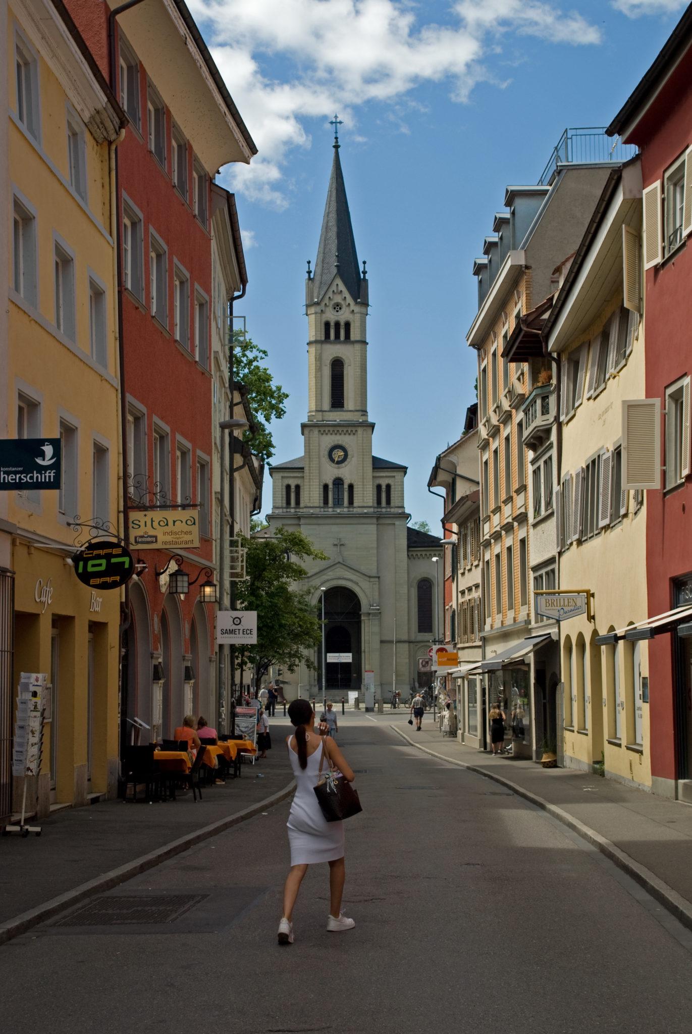 A girl in Konstanz
