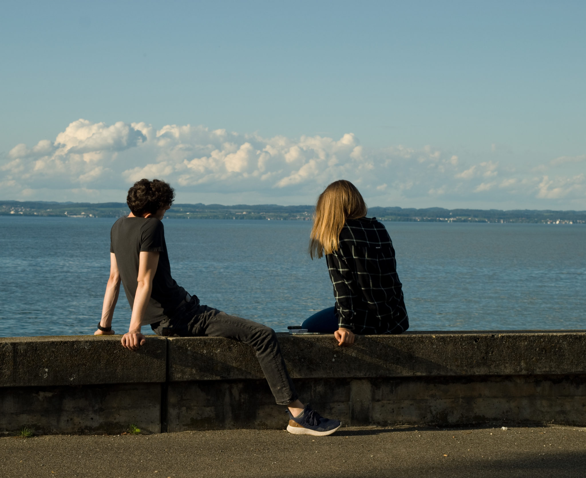 A pair and a lake