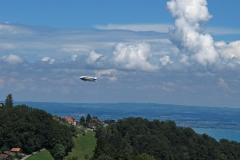 The Zeppelin over the lake